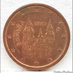 Espagne - 2001 - 2 cents