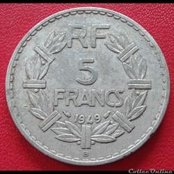 5 francs 1949 B - ALU