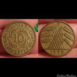 * Allemagne - 10 pfennig 1828 G