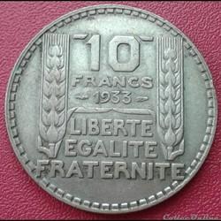10 francs 1933