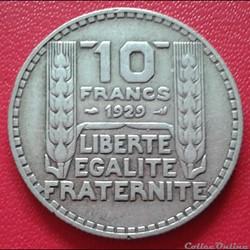 10 francs 1929
