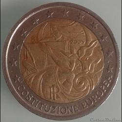 Italie - 2005 - 2 euros Signature constitution européenne