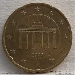 Allemagne - 2002 - G - 20 cents
