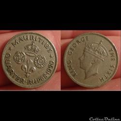 Ile Maurice - 1/4 rupee 1950