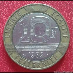 10 francs génie 1989 - 13 stries