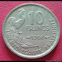 10 francs 1958