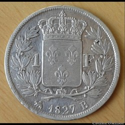04 - Charles X - 1 franc 1827