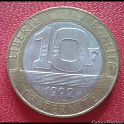 10 francs génie 1992 - Faux