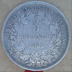 5 francs 1851 A
