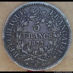 5 francs 1877 A