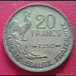 20 francs  1950 - Georges Guiraud