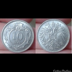 Autriche - 10 heller 1893