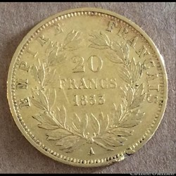 20 francs 1853 A