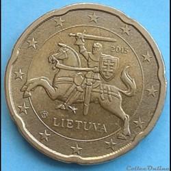 Lituanie - 2015 - 20 cents