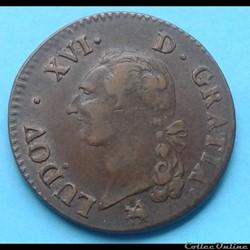 Louis XVI - Sol à l'écu 1791 - 2nd semes...