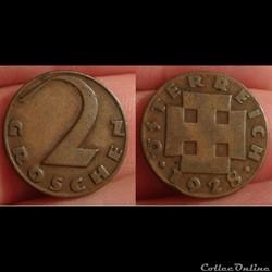 Autriche - 2 groschen 1928