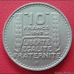 10 francs 1949 B - Petite tête