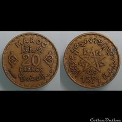 MAROC - 20 francs 1952