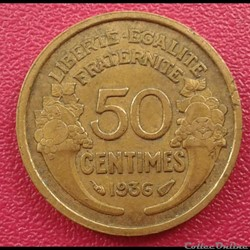 50 centimes 1936
