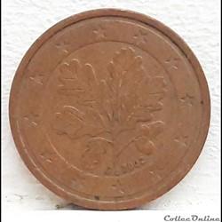 Allemagne - 2002 - J - 2 cents