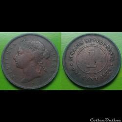 Malaisie - 1 cent 1874 H