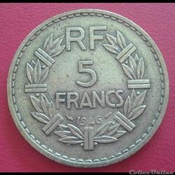 5 francs 1946 - BR.ALU
