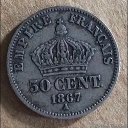 50 centimes 1867 A