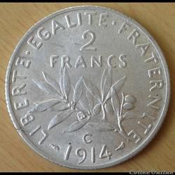 2 francs 1914 C