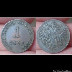 Italie - 1 soldo 1862