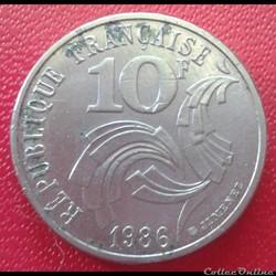 10 francs 1986 Jimenez - bretagne toucha...