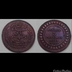 Tunisie - 5 centimes 1914