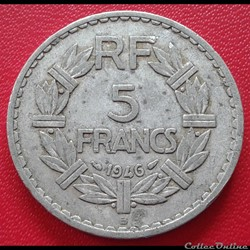 5 francs 1946 B - ALU