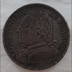 5 Francs 1814 A - Louis XVIII