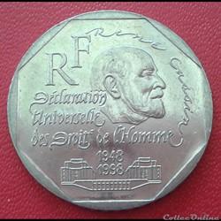2 francs 1998 - René Cassin