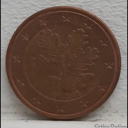 Allemagne - 2002 - D - 5 cents