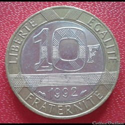 10 francs génie 1992