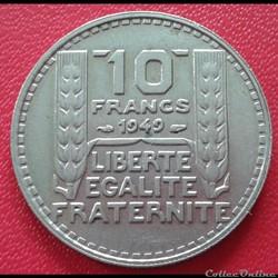 10 francs 1949 - Petite tête