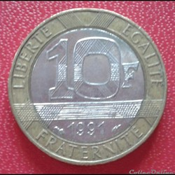 10 francs génie 1991