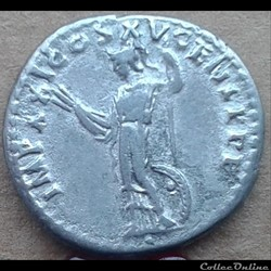 Domitien - denier - athéna - 90