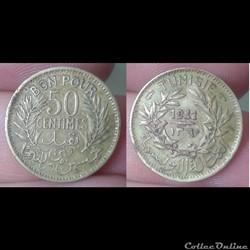 Tunisie - bon pour 50 centimes 1941
