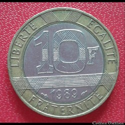 10 francs génie 1989