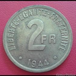 2 francs 1944