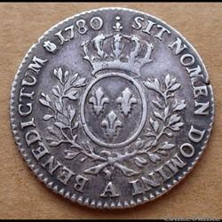 1780 A - 1/5 d'écu aux lauriers