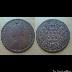 Inde - Half Anna 1877