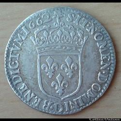 1662 D - 1/12ème écu