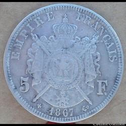5 Francs 1867 BB