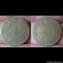 Espagne - 1 peseta 1944
