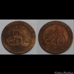 Espagne - 5 centimes 1870