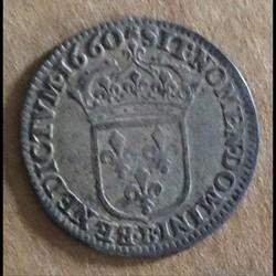 Louis XIV - douzieme d'écu au buste juve...