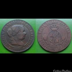 Espagne - 5 centimos 1868